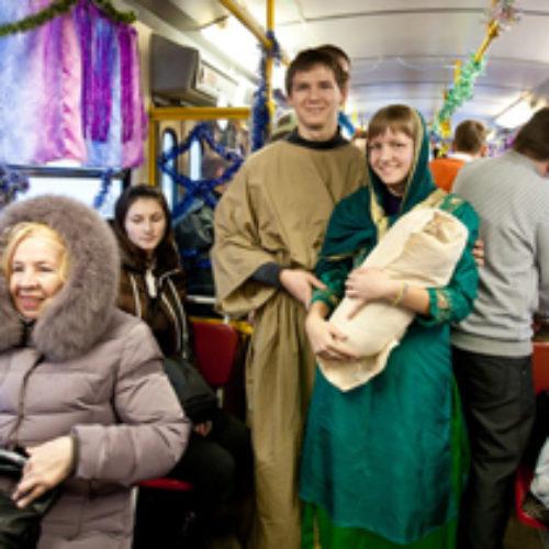 Різдвяний трамвай у Запоріжжі
