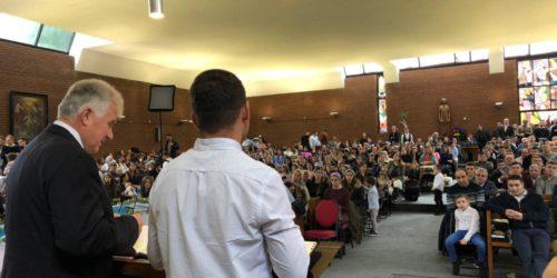 У Брюсселі в українській церкві «Гора Сіон» відбулося водне хрещення та рукопокладення служителів